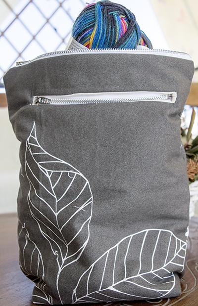 Τσαντάκι μεταφοράς πλεκτου - Project bag