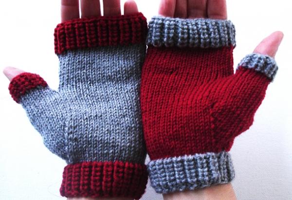 Πλεκτά γάντια χωρίς δάχτυλα - Mitts - Plekontas.gr 1311f4f2830